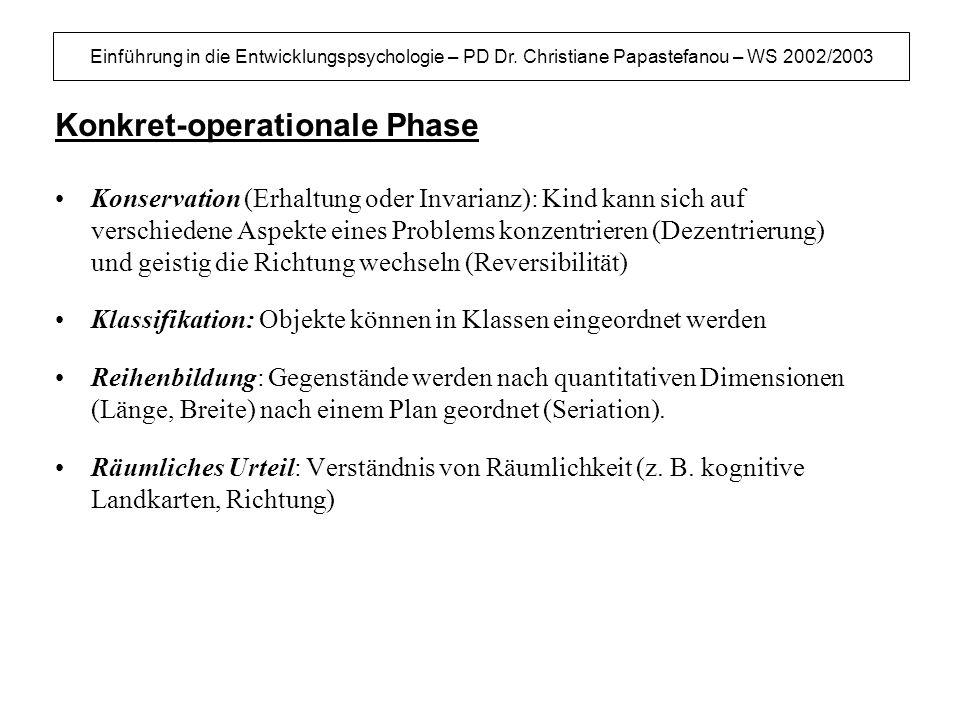Konkret-operationale Phase