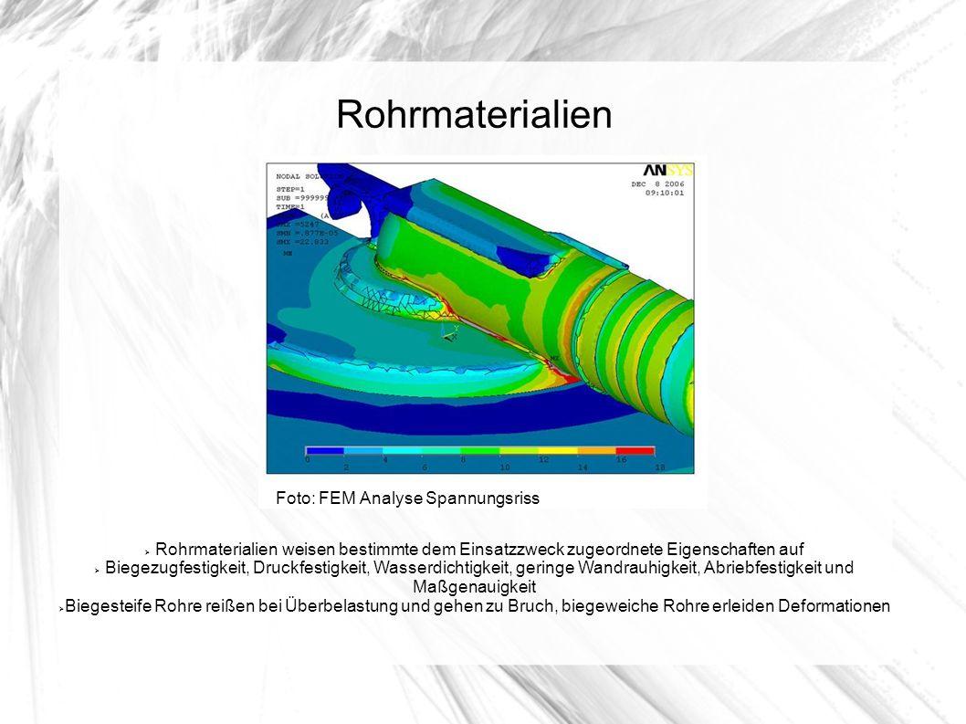 Rohrmaterialien Foto: FEM Analyse Spannungsriss