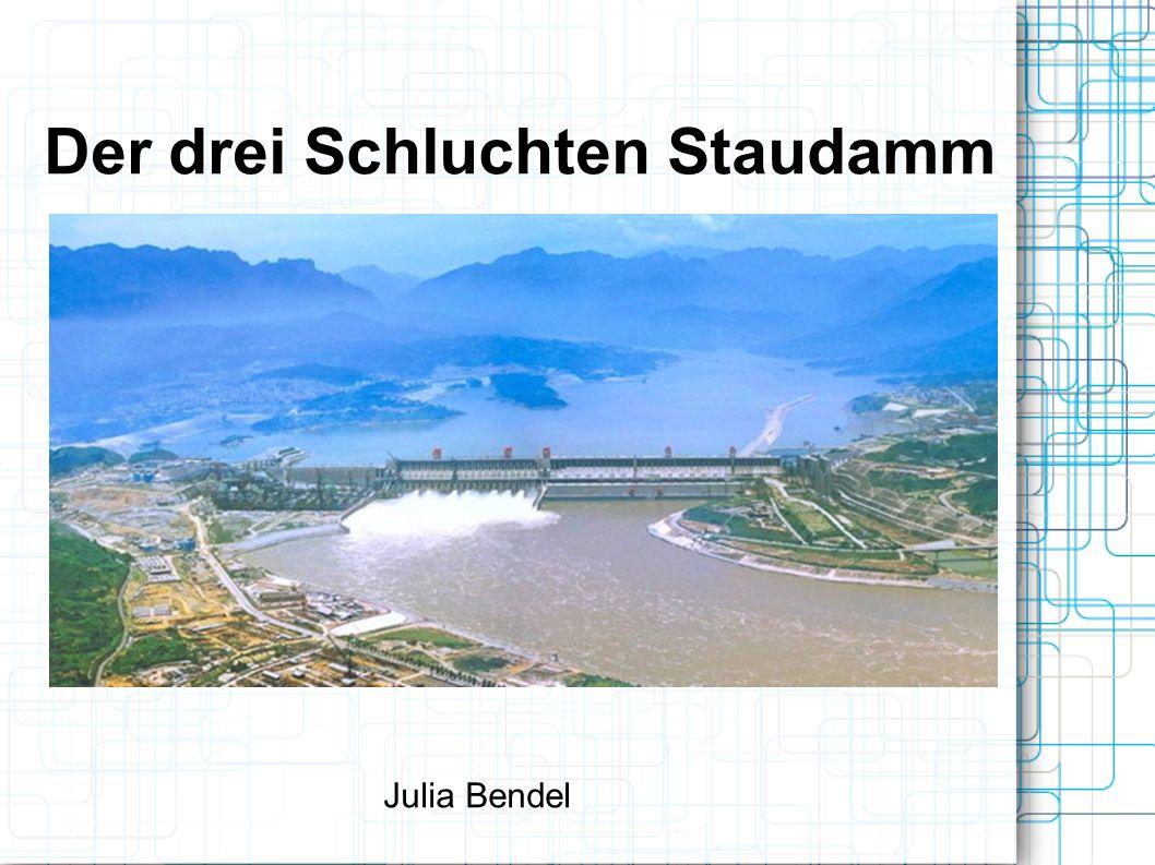 Der drei Schluchten Staudamm