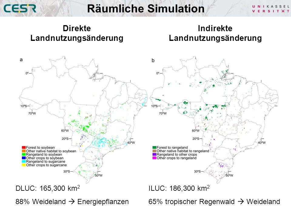 Direkte Landnutzungsänderung Indirekte Landnutzungsänderung