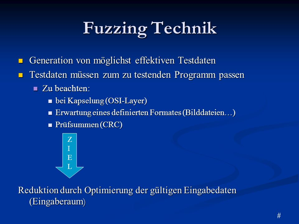 Fuzzing Technik Generation von möglichst effektiven Testdaten