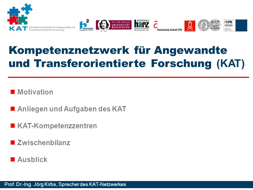 Kompetenznetzwerk für Angewandte und Transferorientierte Forschung (KAT)