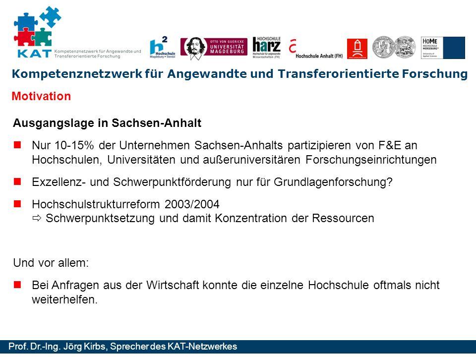 Motivation Ausgangslage in Sachsen-Anhalt.