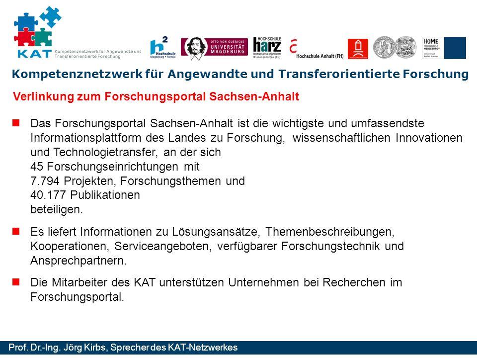 Verlinkung zum Forschungsportal Sachsen-Anhalt