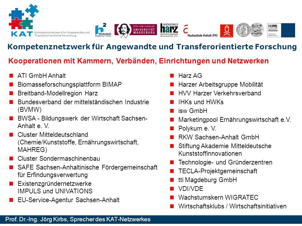 Kooperationen mit Kammern, Verbänden, Einrichtungen und Netzwerken
