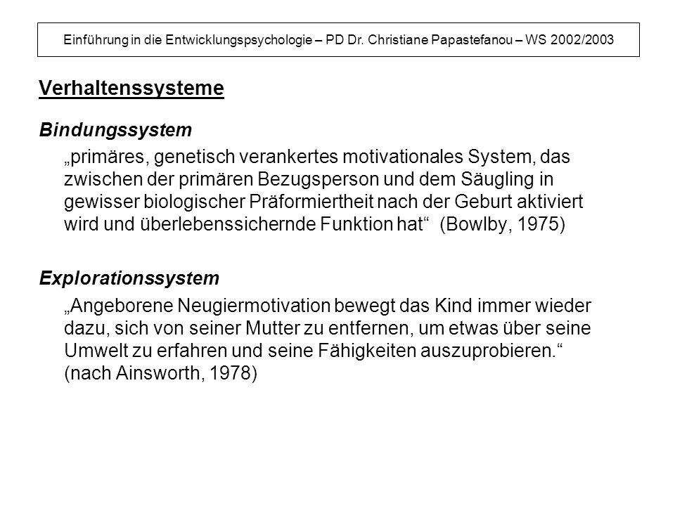 Verhaltenssysteme Bindungssystem