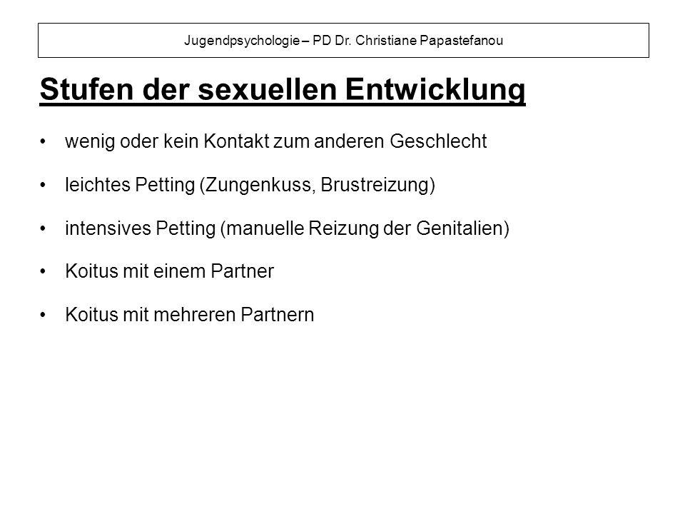 Stufen der sexuellen Entwicklung
