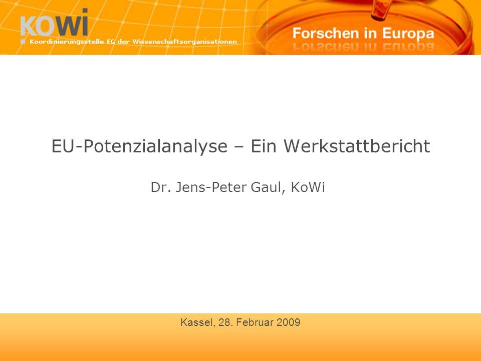 EU-Potenzialanalyse – Ein Werkstattbericht