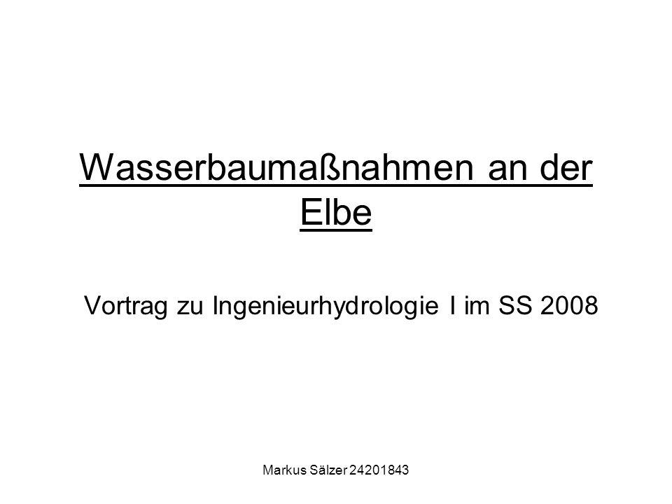 Wasserbaumaßnahmen an der Elbe Vortrag zu Ingenieurhydrologie I im SS 2008