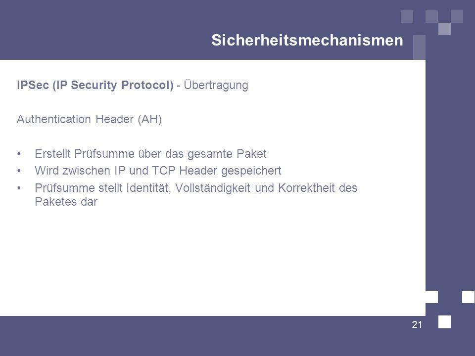 Sicherheitsmechanismen