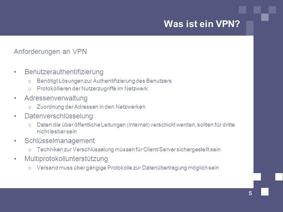 Was ist ein VPN Anforderungen an VPN Benutzerauthentifizierung