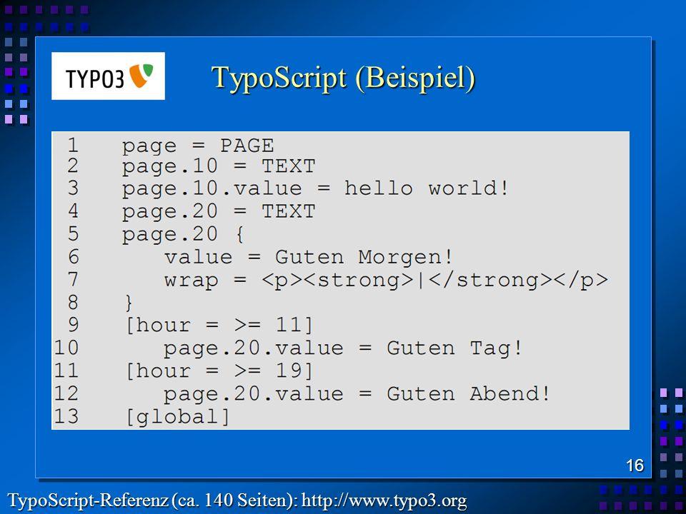 TypoScript (Beispiel)