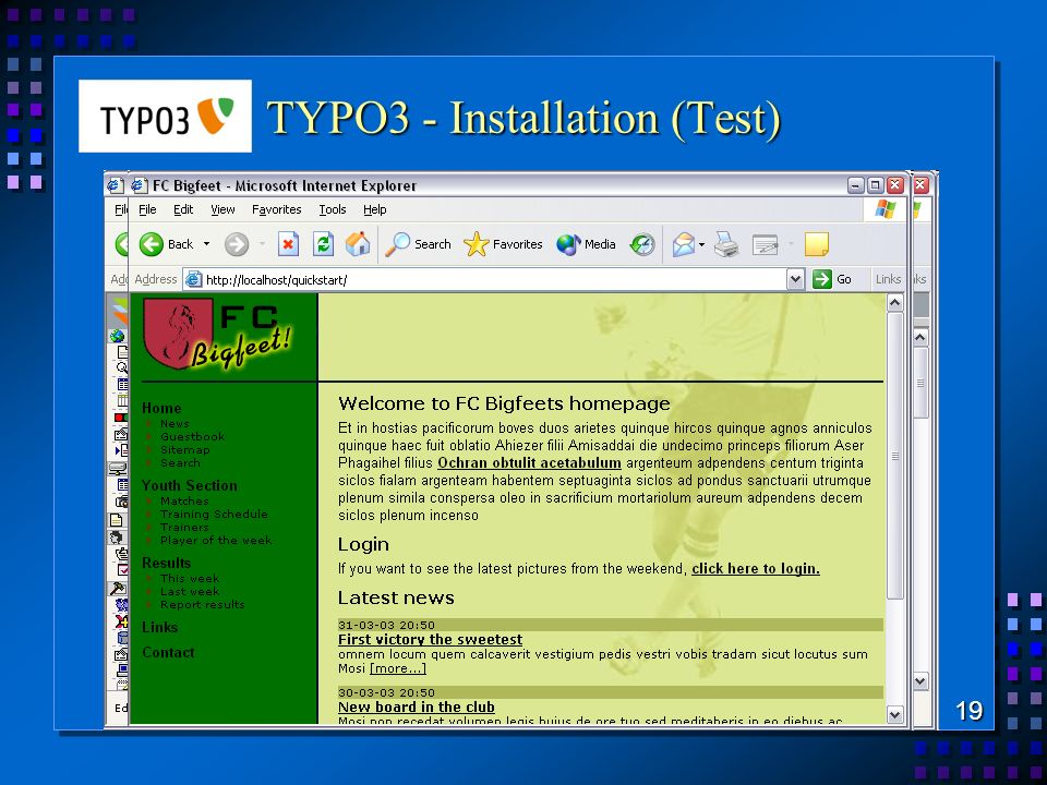 TYPO3 - Installation (Test)