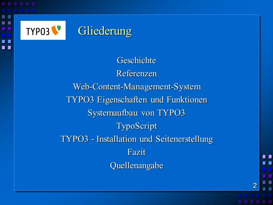 Web-Content-Management-System TYPO3 Eigenschaften und Funktionen