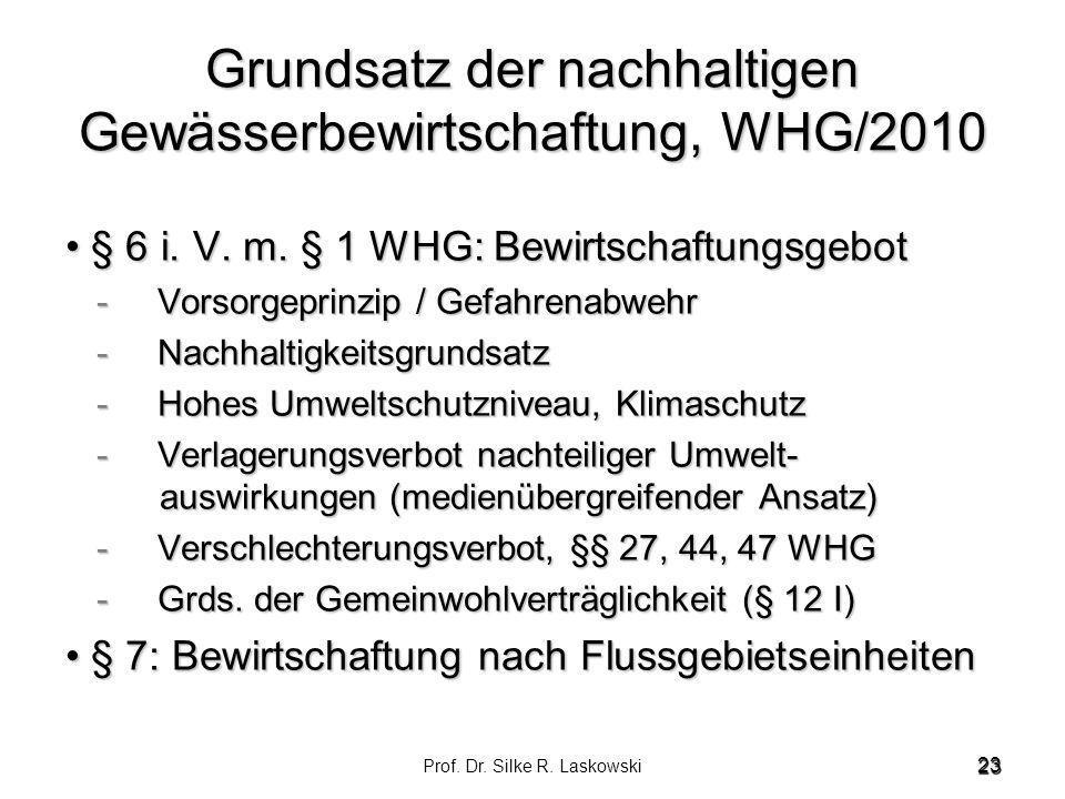 Grundsatz der nachhaltigen Gewässerbewirtschaftung, WHG/2010