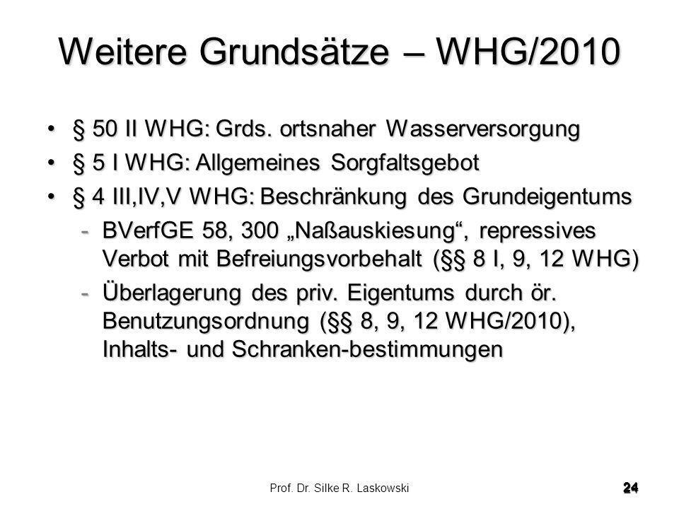 Weitere Grundsätze – WHG/2010