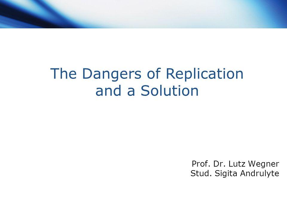 Prof. Dr. Lutz Wegner Stud. Sigita Andrulyte
