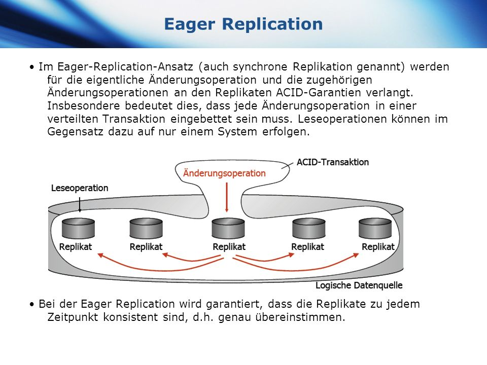 Eager Replication