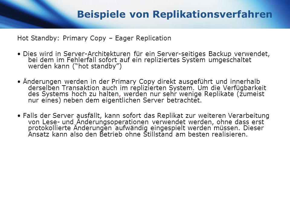 Beispiele von Replikationsverfahren