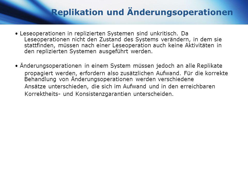 Replikation und Änderungsoperationen
