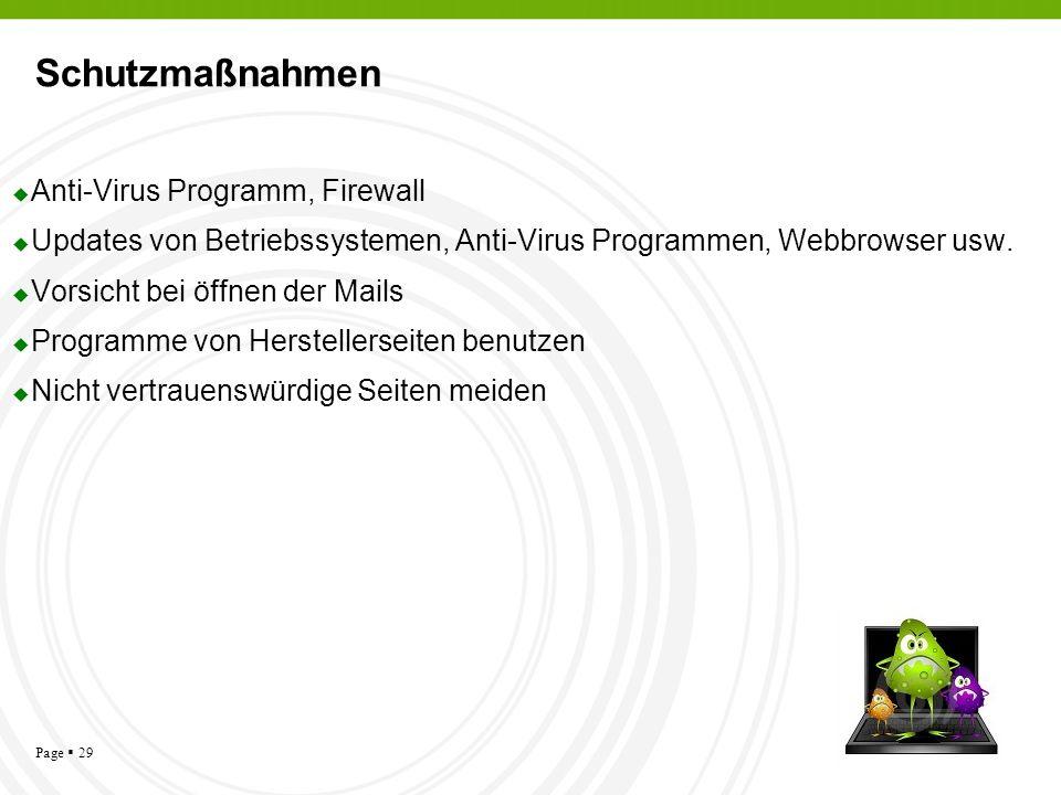 Schutzmaßnahmen Anti-Virus Programm, Firewall