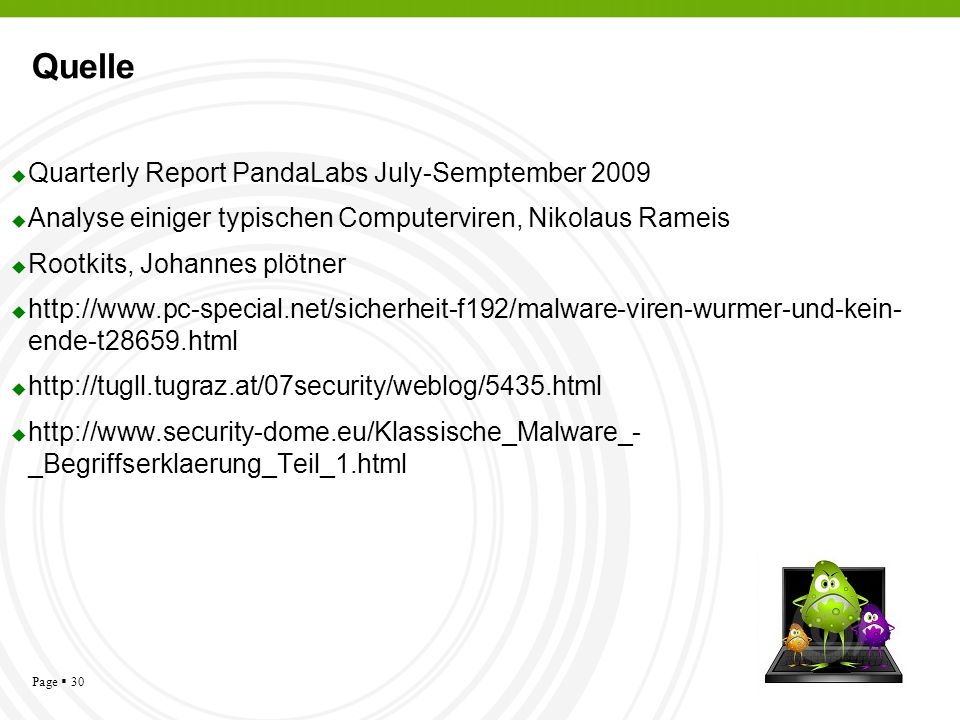 Quelle Quarterly Report PandaLabs July-Semptember 2009