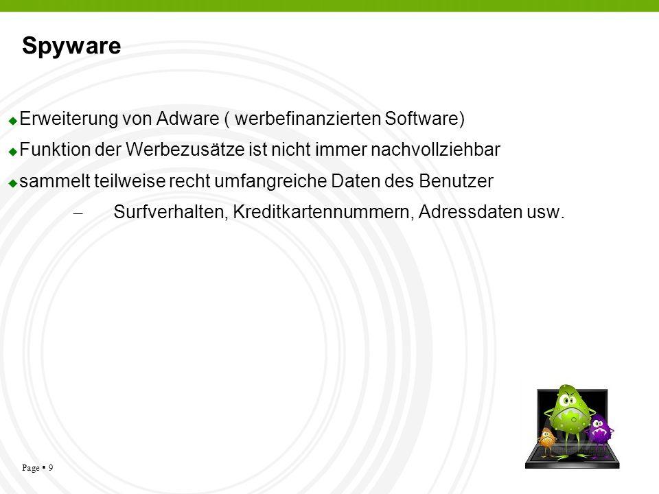Spyware Erweiterung von Adware ( werbefinanzierten Software)