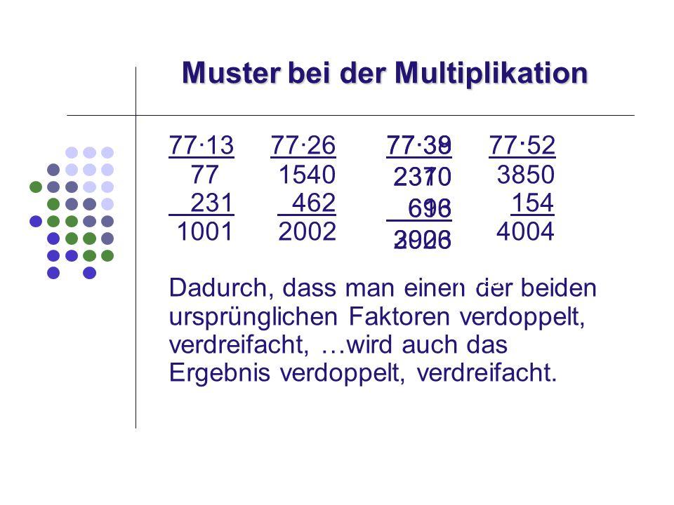 Muster bei der Multiplikation