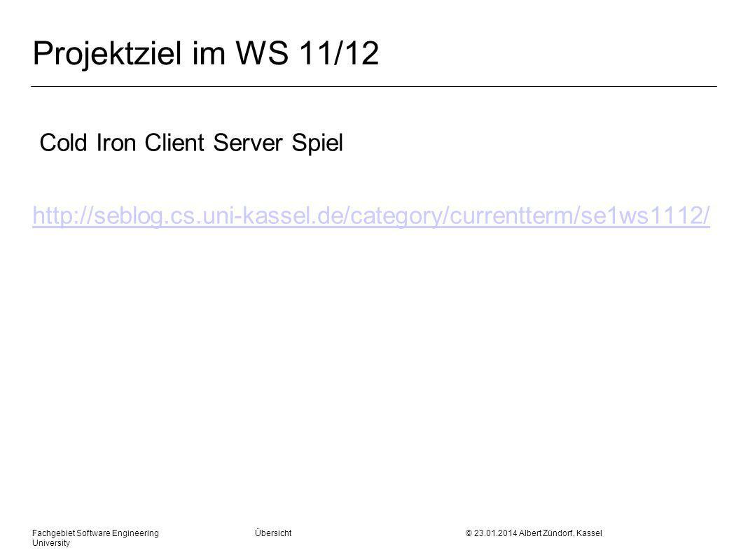 Projektziel im WS 11/12 Cold Iron Client Server Spiel