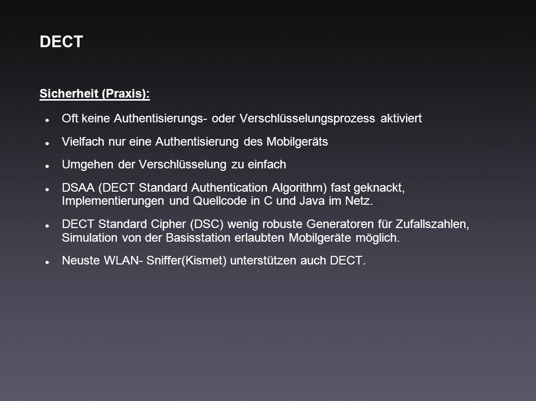 DECT Sicherheit (Praxis):