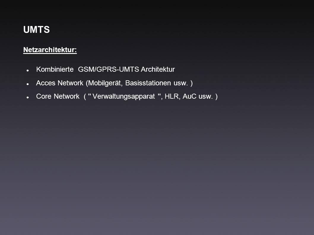 UMTS Netzarchitektur: