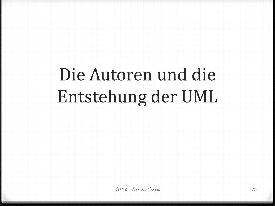 Die Autoren und die Entstehung der UML