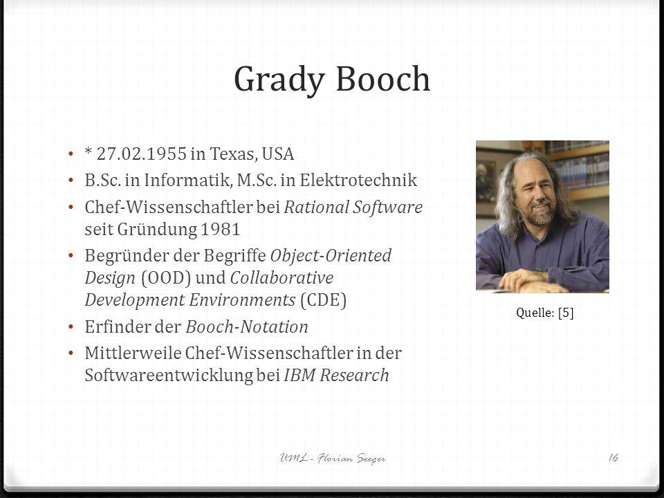 Grady Booch * 27.02.1955 in Texas, USA