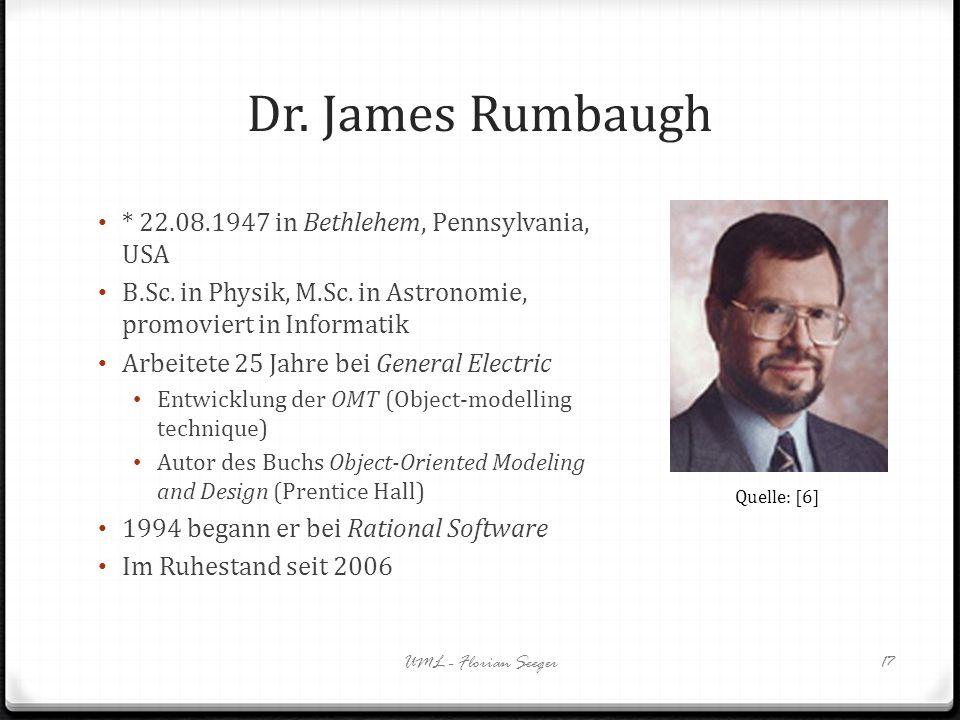 Dr. James Rumbaugh * 22.08.1947 in Bethlehem, Pennsylvania, USA