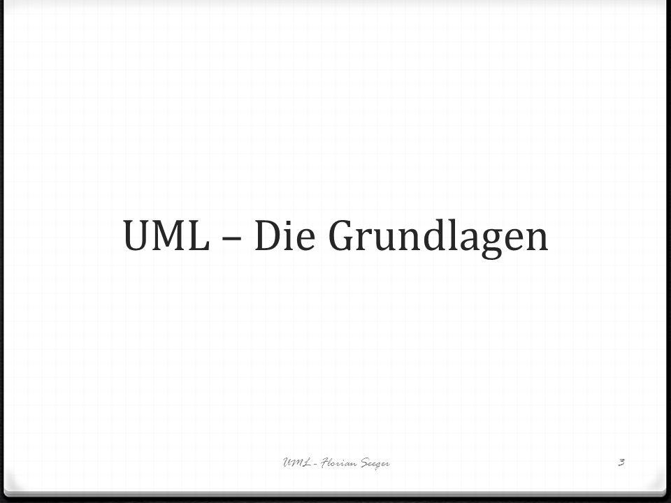UML – Die Grundlagen UML - Florian Seeger