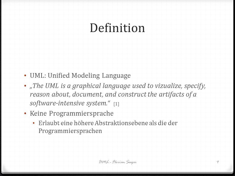 Definition UML: Unified Modeling Language