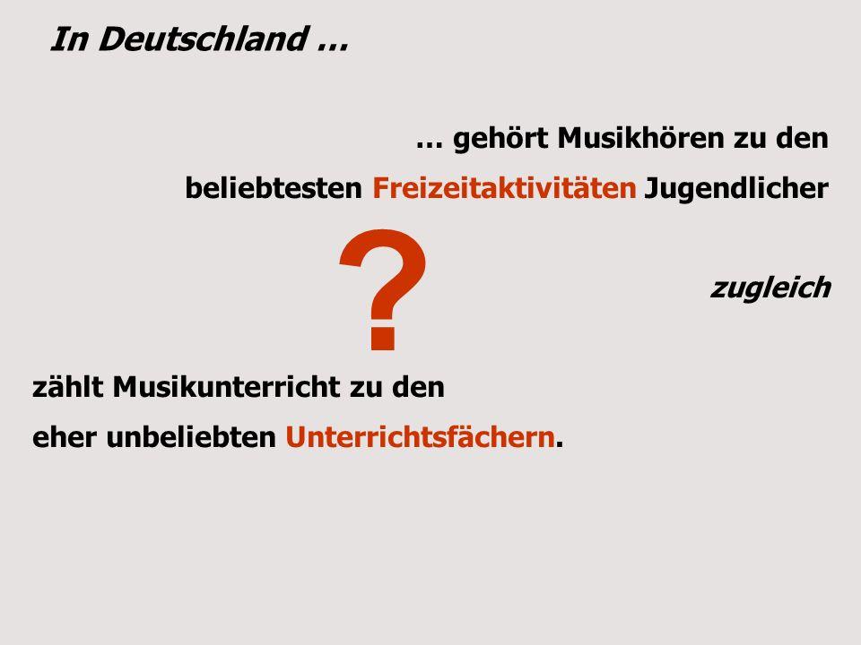 In Deutschland … … gehört Musikhören zu den