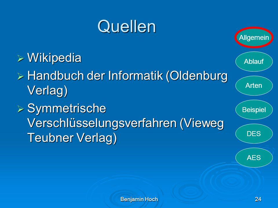 Quellen Wikipedia Handbuch der Informatik (Oldenburg Verlag)