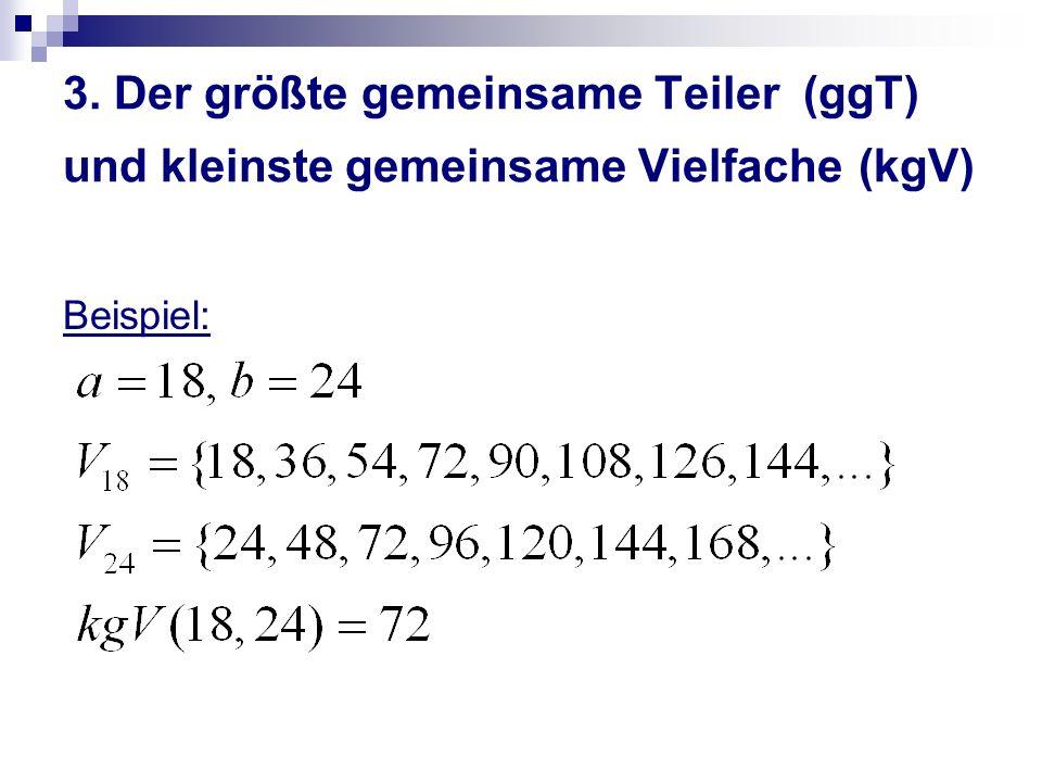 3. Der größte gemeinsame Teiler (ggT) und kleinste gemeinsame Vielfache (kgV)