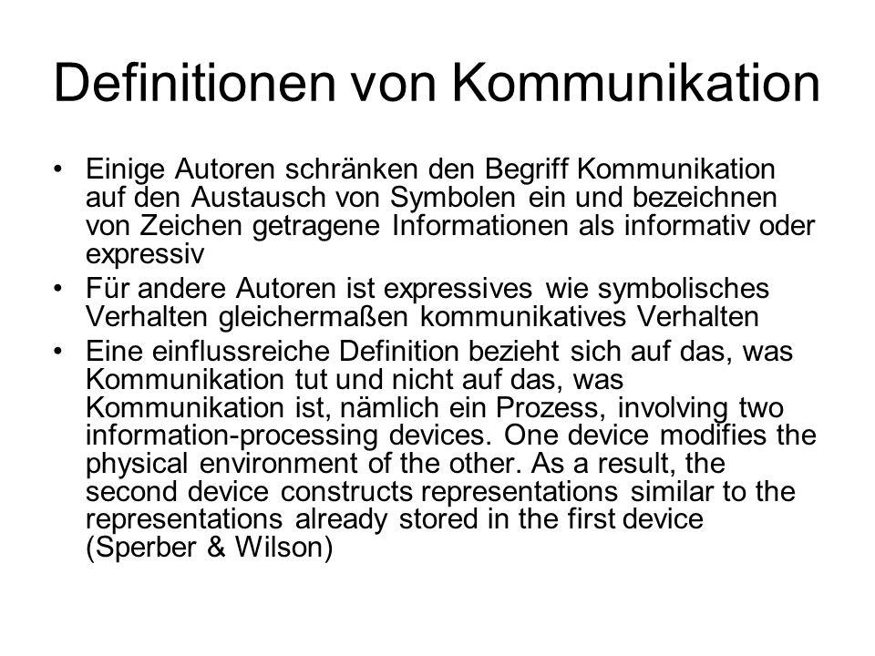 Definitionen von Kommunikation