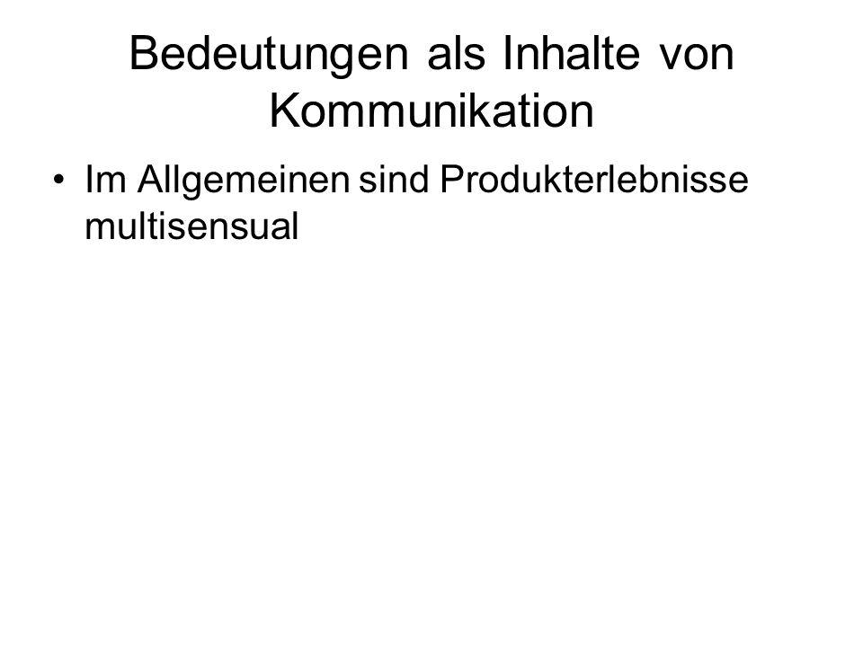 Bedeutungen als Inhalte von Kommunikation