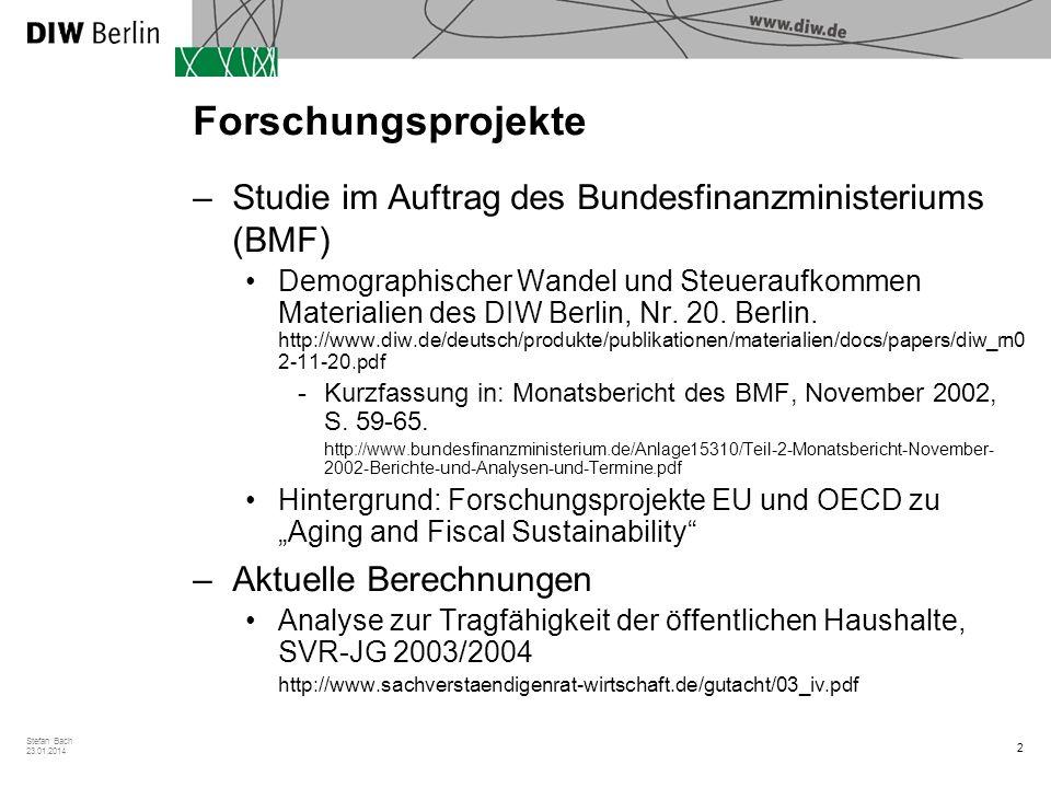 Forschungsprojekte Studie im Auftrag des Bundesfinanzministeriums (BMF)