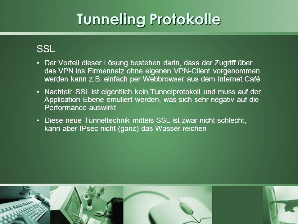 Tunneling Protokolle SSL