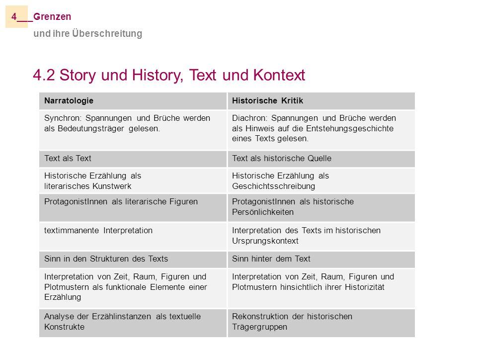 4.2 Story und History, Text und Kontext
