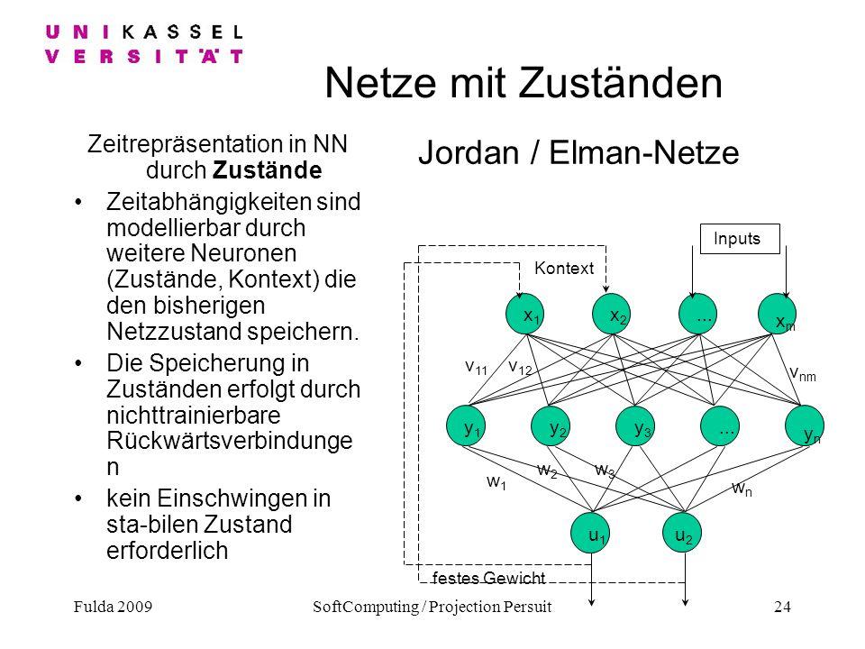 Netze mit Zuständen Jordan / Elman-Netze