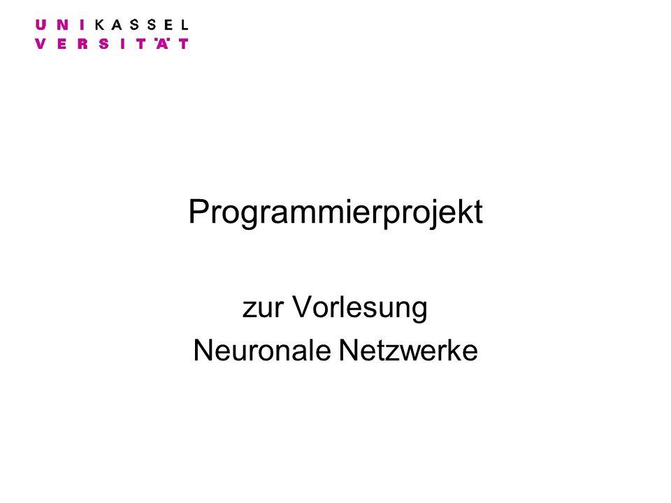 zur Vorlesung Neuronale Netzwerke