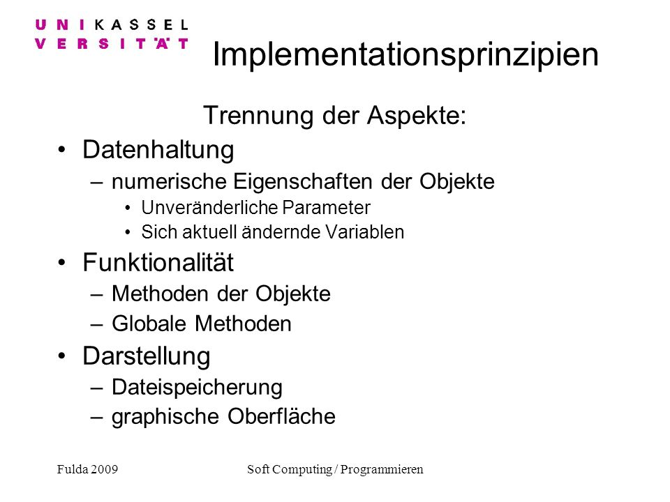 Implementationsprinzipien