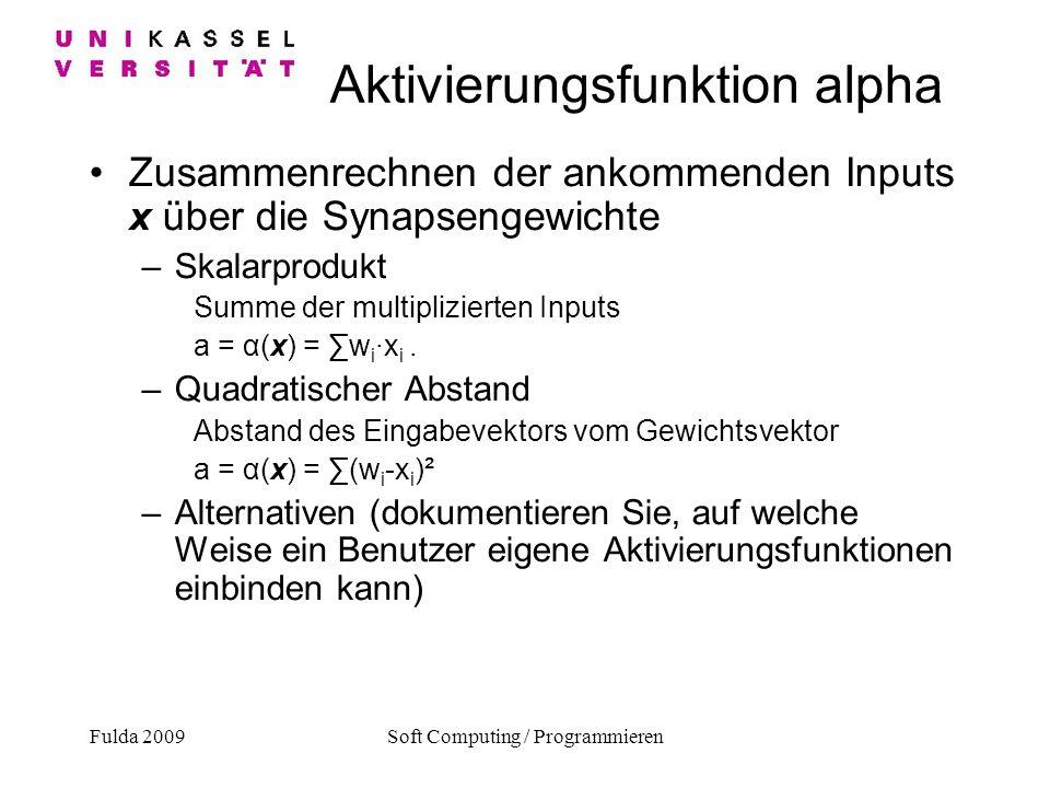 Aktivierungsfunktion alpha