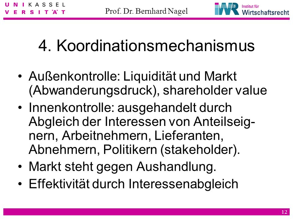 4. Koordinationsmechanismus