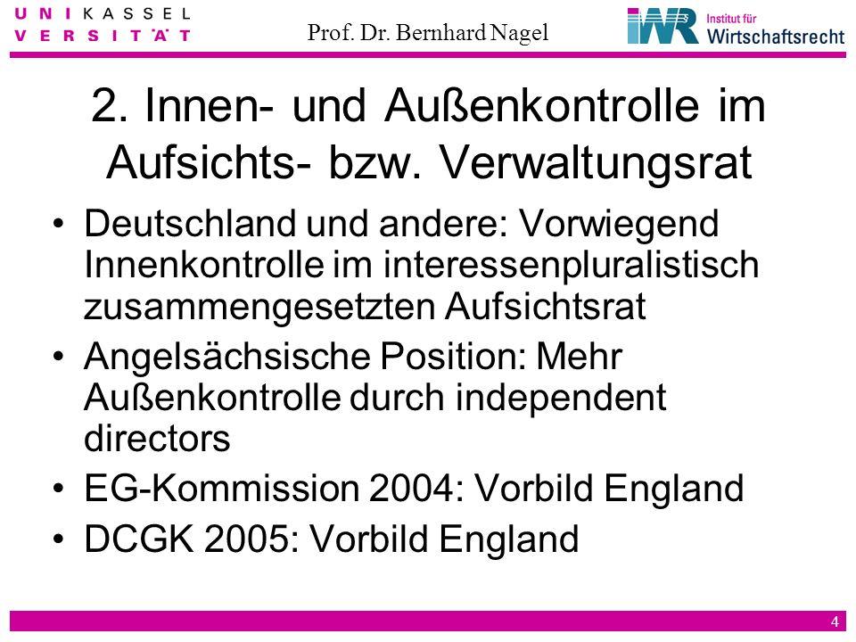 2. Innen- und Außenkontrolle im Aufsichts- bzw. Verwaltungsrat
